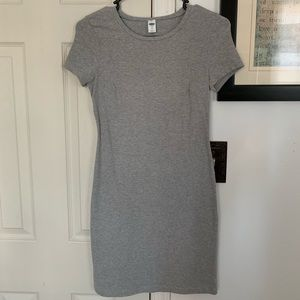 Grey tee shirt dress